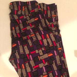 Lularoe TC lipstick leggings, worn once.